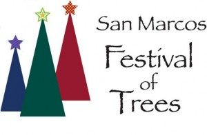 san marcos festival of trees logo