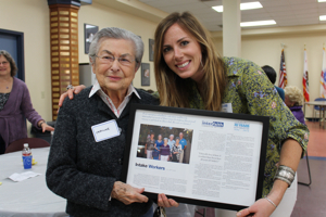 caroline hoffman with picture of news article