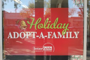 holiday adopt a family poster