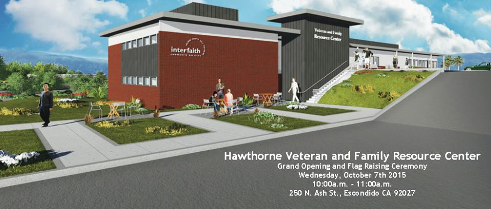 render of new hawthorne veteran and family resource center