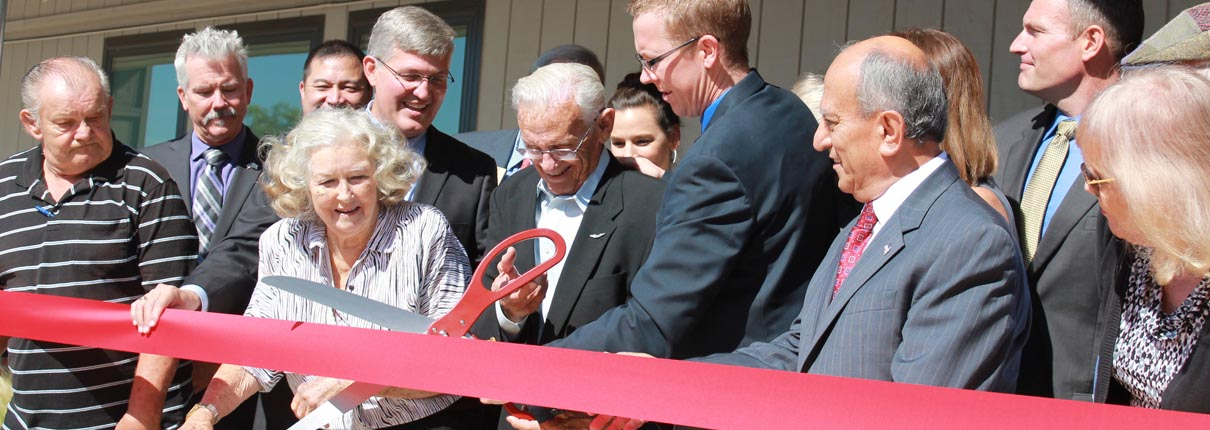 cutting big ribbon