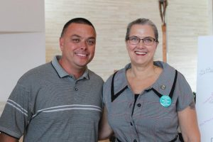 Debbie Snyder, former Interfaith client, with her husband Joe