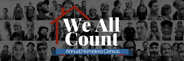We all count annual homeless census banner
