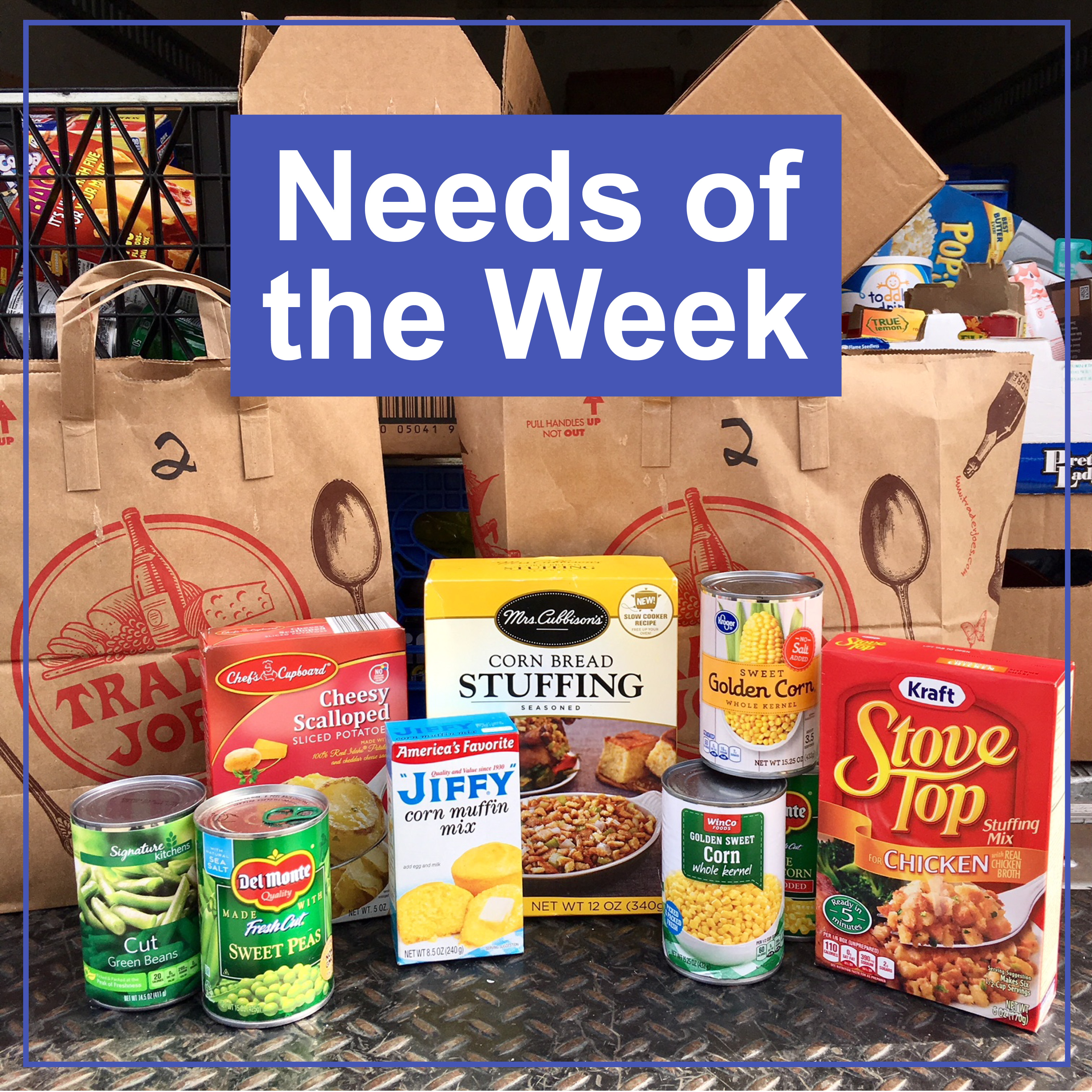 needs of the week various groceries