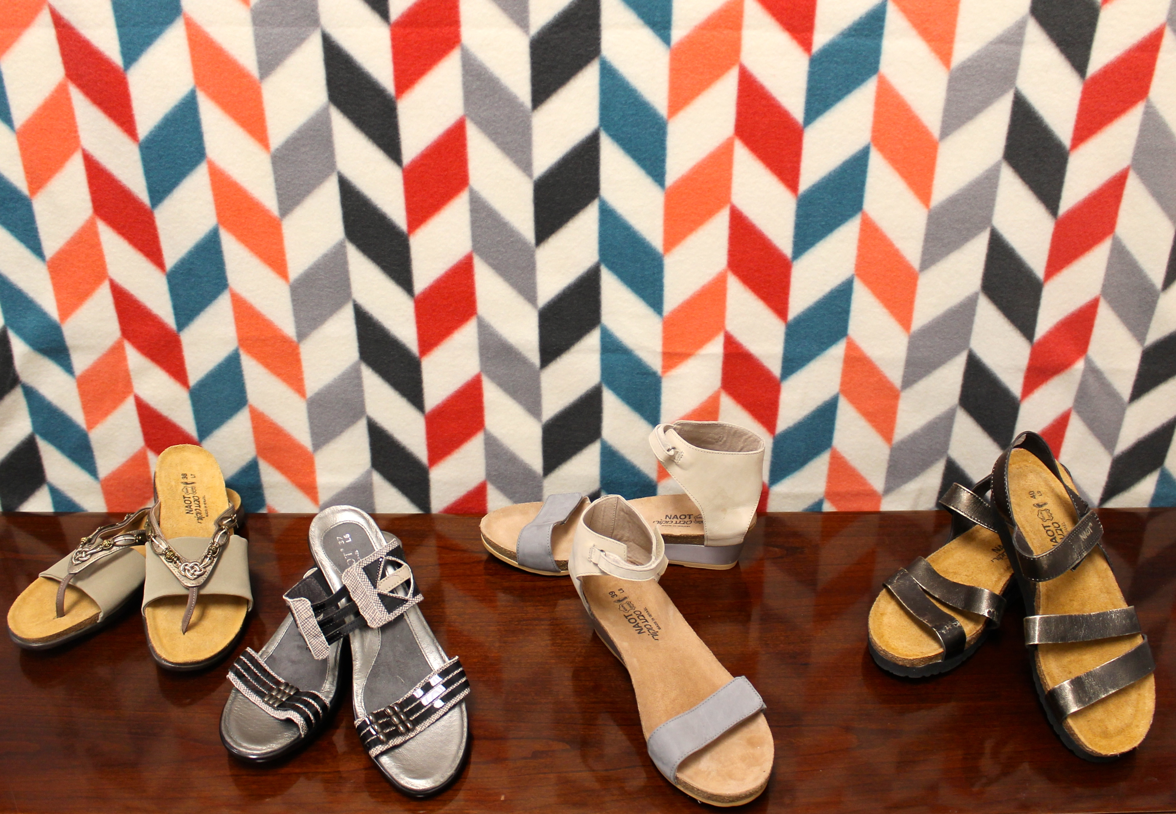 four pairs of women's shoes