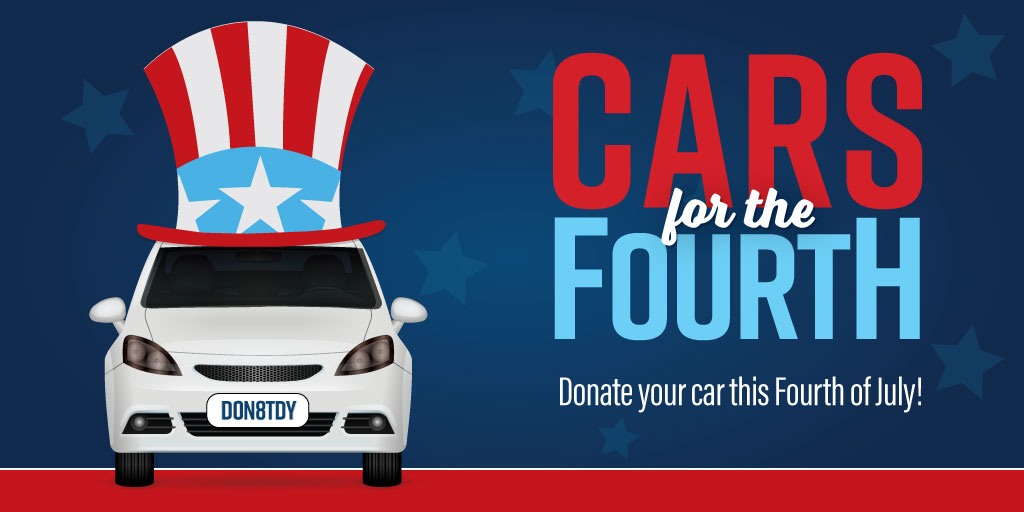 fourth of July donate your car flier