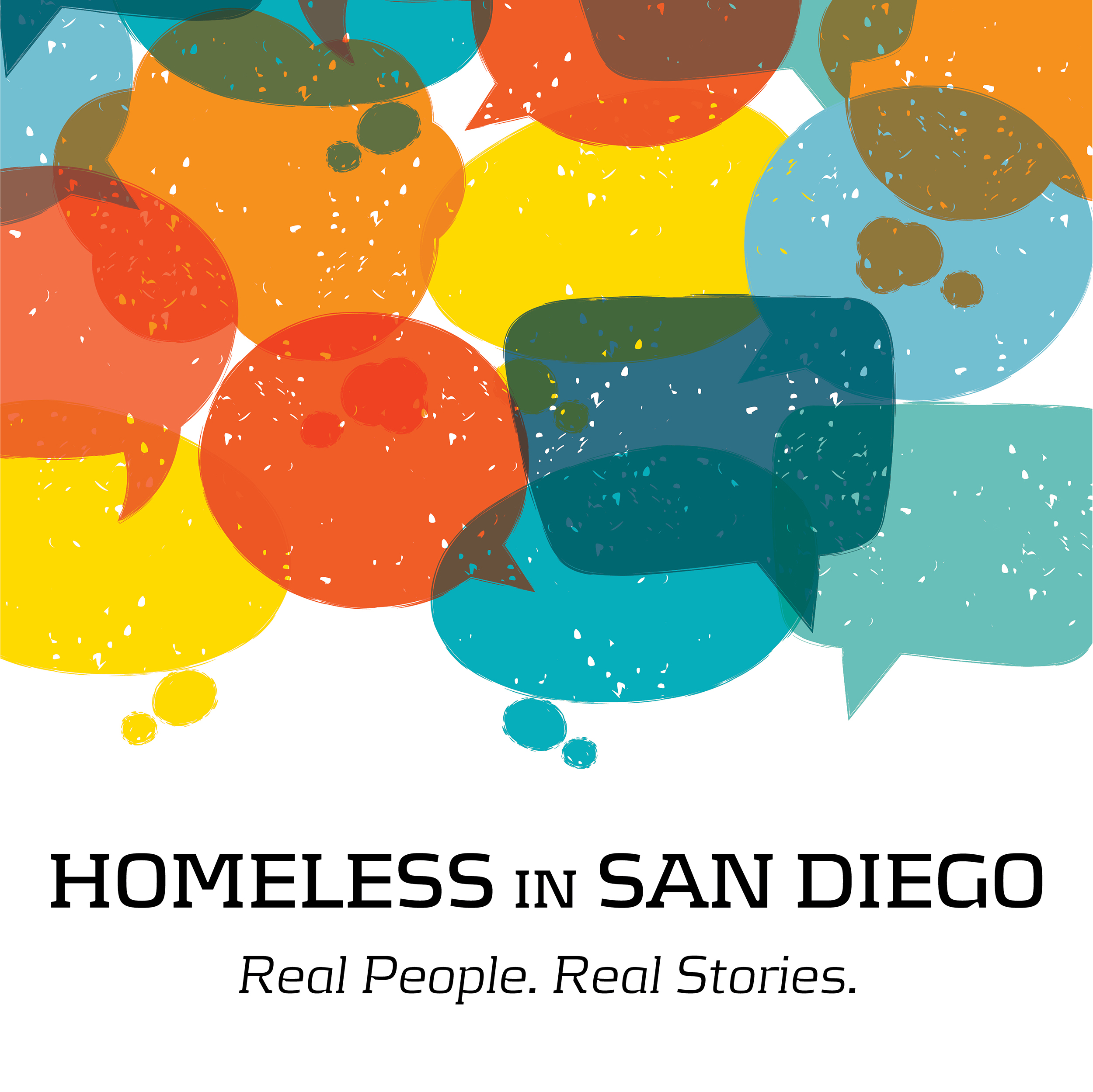 Homeless in San Diego real people real stories logo